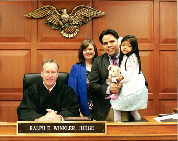 Judge and Family