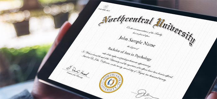 eDiploma for Northcentral University