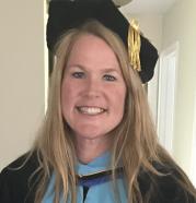 NCU alumni, Dr. Tricia McPheron, in graduate regalia