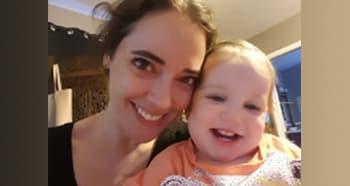 Amanda Bezet and Child