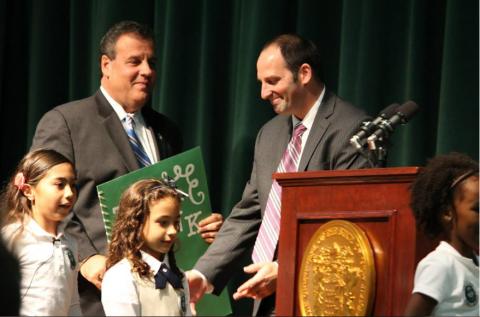 Dr. Michael Salvatore meets Governor Chris Christie